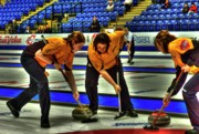 Brushing Prints - Huffin And Puffin At The Scotties Print by Lawrence Christopher