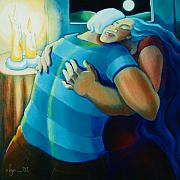 Power Paintings - Hug and A Half by Angela Treat Lyon