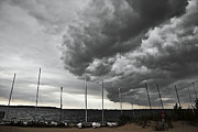 Supercell Prints - Huge Rotating Storm Cloud over Muskegon Lake Print by Joe Gee