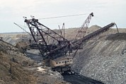 Large Scale Photo Framed Prints - Huge Strip Mining Machinery Consuming Framed Print by Everett