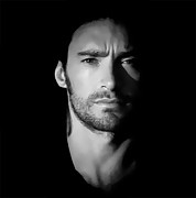 Anibal Diaz Framed Prints - Hugh Jackman Black and White by GBS Framed Print by Anibal Diaz