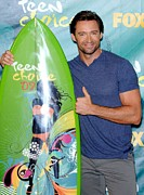 Teen Choice Awards Framed Prints - Hugh Jackman In The Press Room For Teen Framed Print by Everett