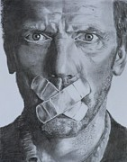 House Md Drawings - Hugh Laurie - House MD by Mike OConnell
