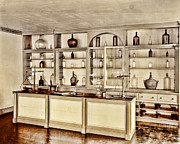 Antique Bottles Art - Hugh Mercers Apothecary Shop I by Marcie Adams Eastmans Studio Photography