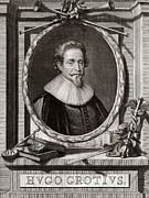1600s Posters - Hugo Grotius, Dutch Jurist Poster by Middle Temple Library