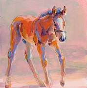 Chestnut Horse Paintings - Hugo by Kimberly Santini
