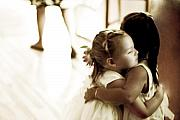 Girls Photos - Hugs and Kisses by Barb Pearson