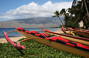 Canoes Digital Art - Hui Waa o Kihei by Sharon Mau