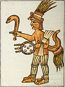 Espana Posters - Huitzilopochtli, Aztec God Of War, 16th Poster by Photo Researchers