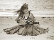 Blackwhite Prints - Hula Girl Print by Himani - Printscapes