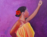 Marionette Paintings - Hula Lady by Marionette Taboniar