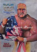 Art Ross Drawings - Hulk Hogan by Sandeep Kumar Sahota