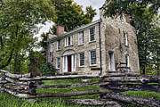 Stone Dwelling Framed Prints - Hull House 1810 Framed Print by Peter Chilelli