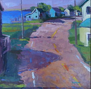 Charming Town Paintings - Hull of a Curve by Page Railsback