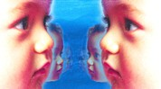 Baby Faces Prints - Human Cloning, Conceptual Artwork Print by Hannah Gal