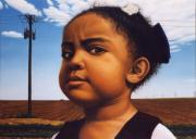 Child Portrait Prints - Human-Nature Number Thirteen Print by James W Johnson