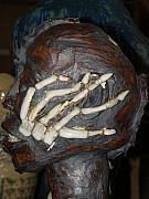Anatomy Ceramics - Human Skeleton close up the finger bones by Megan Brandl