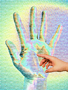 Gestures Digital Art Prints - Human Touch Print by Maigi