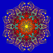 Vivid Colour Digital Art - HuMandala 1 by David Kleinsasser