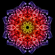 Vivid Colour Prints - HuMandala 2 Print by David Kleinsasser
