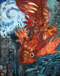 Conscious Paintings - Humanity Fish by Emily McLaughlin