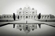 White Sandstone Framed Prints - Humayun Tomb Framed Print by Dhmig Photography