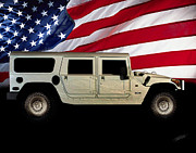Muscle Car Metal Prints - Hummer Patriot Metal Print by Peter Piatt