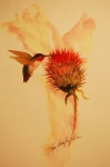 Lynn Beazley Blair - Humming Bird in Thistle