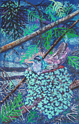 Branches Pastels Prints - Hummingbird Print by Jim Barber Hove