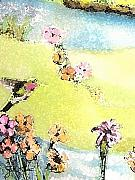 Hummingbird Drawings Metal Prints - Hummingbird Metal Print by John Keaton