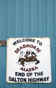 Dalton Haul Road Posters - Humor in Deadhorse Alaska Poster by Nancy Hoyt Belcher