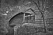 Humpback Metal Prints - Humpback Bridge BW Metal Print by Williams-Cairns Photography LLC