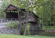 Covington Prints - Humpback Covered Bridge in Covington Virginia Print by Brendan Reals