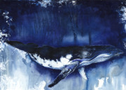 Human Mixed Media - Humpback Whale by Anthony Burks