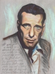 Humphrey Paintings - Humphrey Bogart  Not a chess piece was out of place by Kean Butterfield