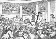 Knighted Posters - Humphrey Davy Lecturing, 1809 Poster by Science Source