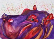 Chevy Pastels - Humphrey the Hippo by Gayle  George