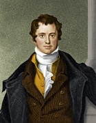 History Of Science Prints - Humphry Davy, British Chemist Print by Maria Platt-evans
