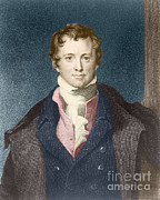 Calcium Oxide Prints - Humphry Davy, English Chemist Print by Science Source