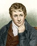 European Artwork Metal Prints - Humphry Davy, English Chemist Metal Print by Sheila Terry