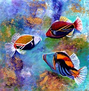 Hawaiian Fish Framed Prints - Humuhumu Framed Print by Marionette Taboniar