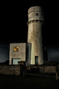 Lighthouse Art - Hunstanton Lighthouse at night by John Edwards