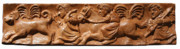 Horse Reliefs Framed Prints - Hunt Framed Print by Vladimir Kozma