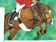 Show Horse Paintings - Hunter Jumper by Debbie LaFrance