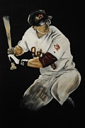 Houston Astros Painting Framed Prints - Hunter Pence 2 Framed Print by Leo Artist