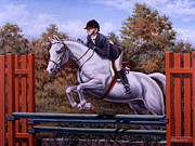 Horse Jumping Paintings - Hunter Pony by Richard De Wolfe