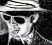 Portraits Art - Hunter S Thompson American Dream  by Jon Baldwin  Art