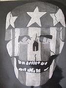 Black And White Print Reliefs - Hunter S. Thompson campaign ad by Tiffany Lint
