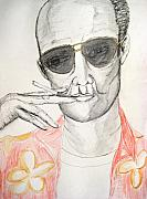 Gonzo Posters - Hunter S. Thompson Poster by Darkest Artist