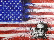 American Flag Painting Originals - Hunter S Thompson by William McCann